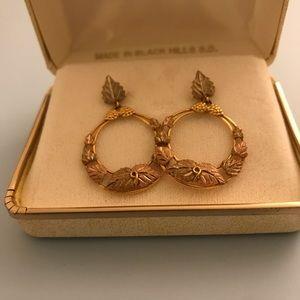 Authentic Black Hills 14k rose Gold Hoop Earrings